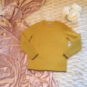 Madewell Wallace Mustard Pullover Sweater